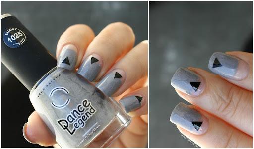 Dance Legend Grey Britain Geometric Nails