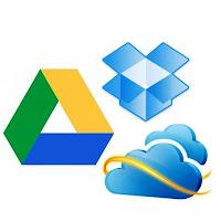DropBox, SkyDrive e Google Drive.