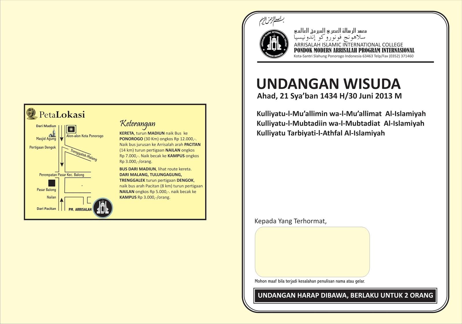 Download image Contoh Undangan Wisuda Sederhana PC, Android, iPhone ...