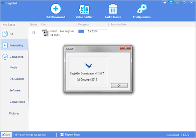 Mempercepat download dengan EagleGet Downloader - 1
