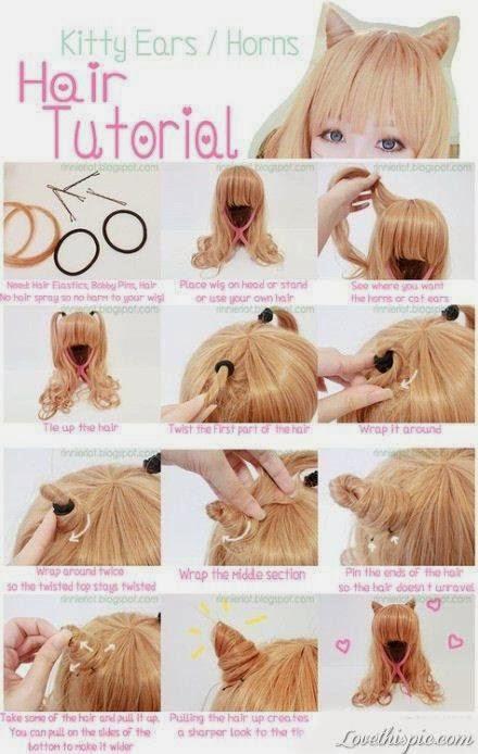 tutoriel coiffure oreille de chat
