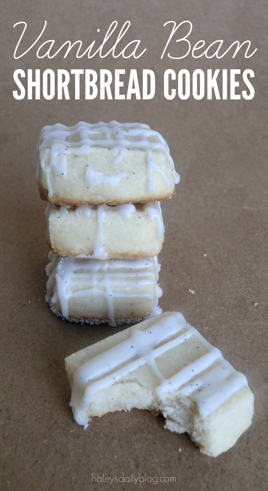 Haley's Daily Blog: Vanilla Bean Shortbread Cookies