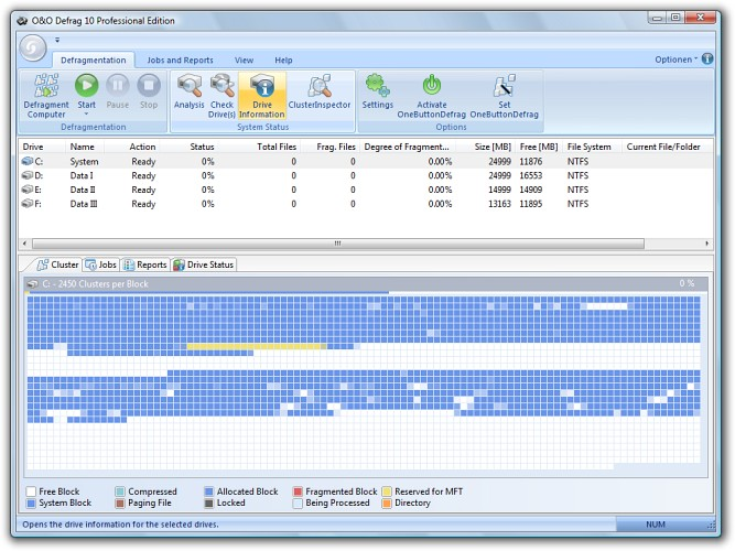 The award-winning defragmentation program, O&O Defrag 11, optimizes Pla