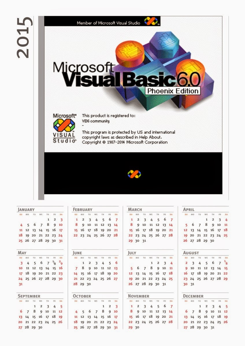 visual basic 6 0 superior code awards 2014 2024 calendars for