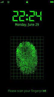 finger print scan nokia 5230