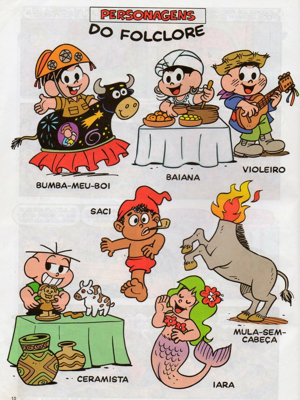 Personagens do Folclore - Turma da Mônica