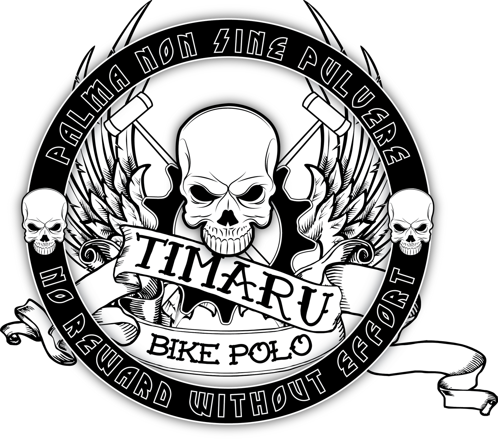 Design a bike sticker - A Few Mates Of Mine Have A Bike Polo Team So I Thought I Would Do Up A Sticker Design For Them