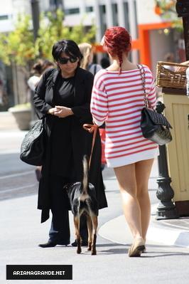 Ariana grande walking