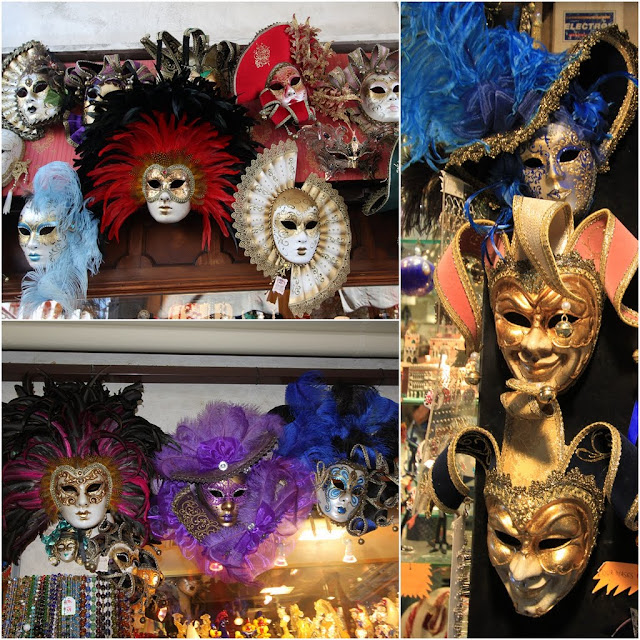 Venetian Masks is the main feature durint the annual festival of the Carnival of Venice in Venice, Italy