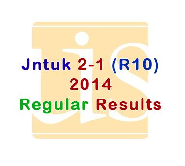 Jntuk 2014 r10 2-1 Results