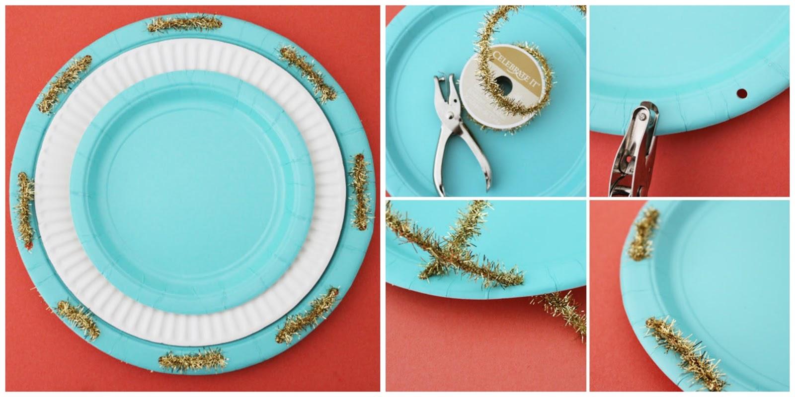 Una decoraci n de fiesta completa con platos de papel - Decoracion de platos ...