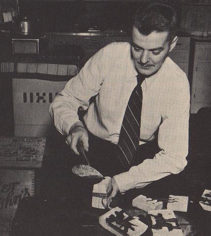 """Metal """"drop"""" casting, courtesy of Bob Bard, circa 1957"""