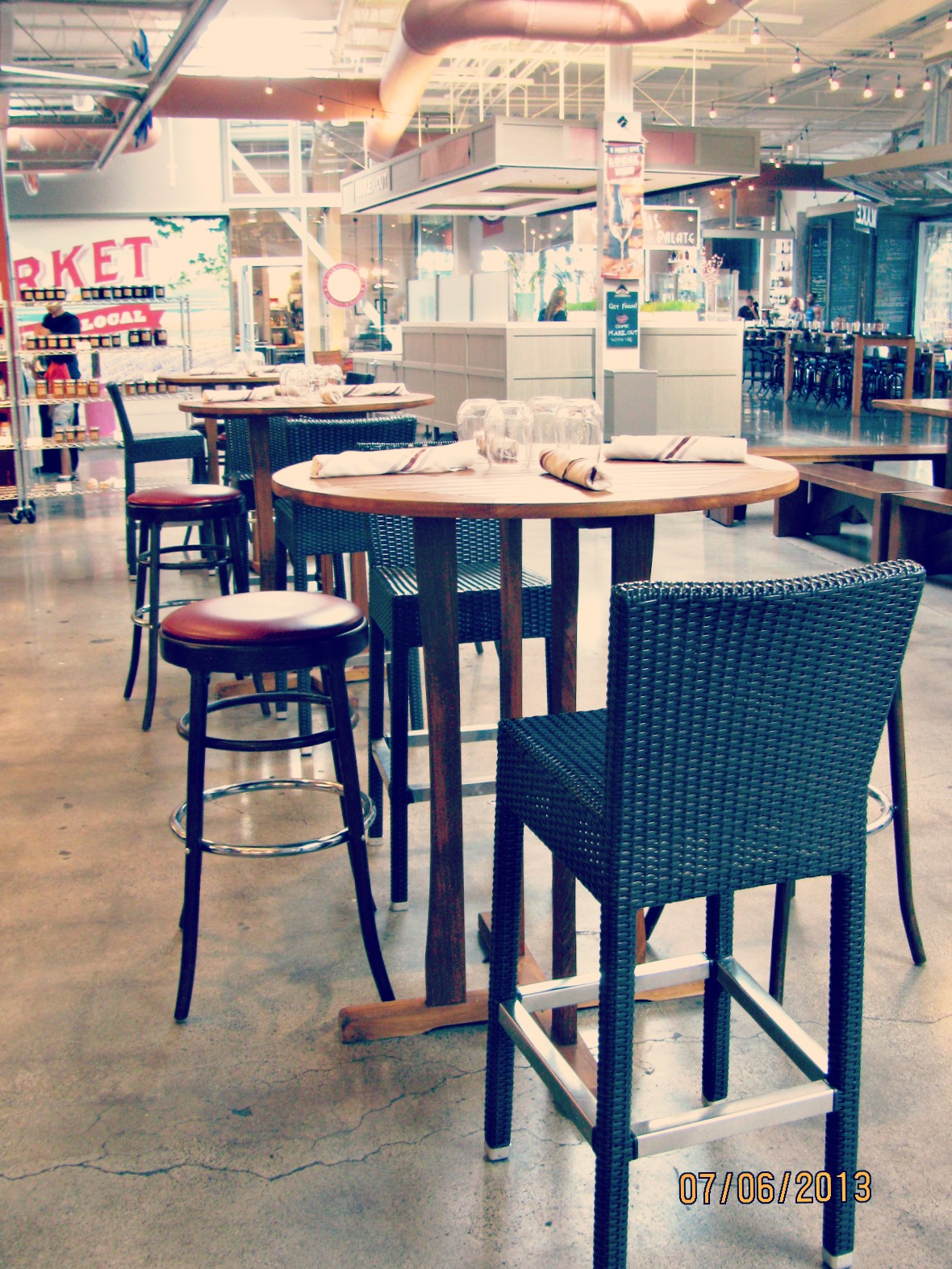 Santa Monica Place // Bar Stools at The Market