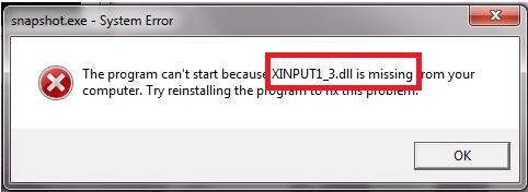Xinput1 3.dll скачать бесплатно для windows 7