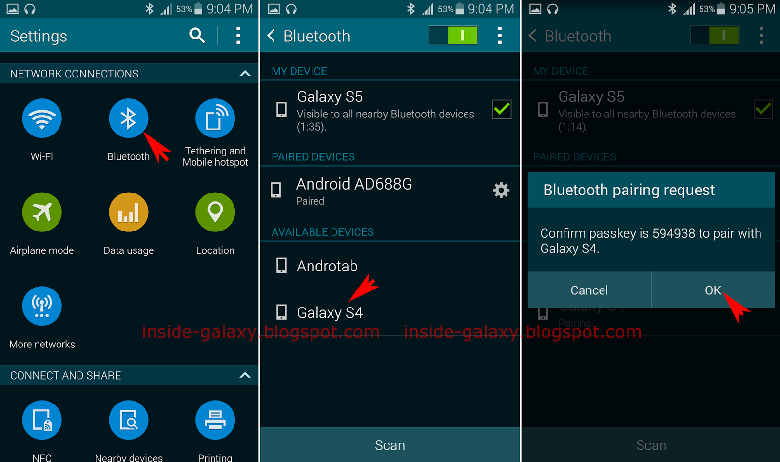 Samsung Galaxy S5: How to Transfer Files Using Bluetooth ...