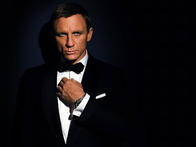 James Bond with Omega QOS Watch HD Desktop Wallpaper