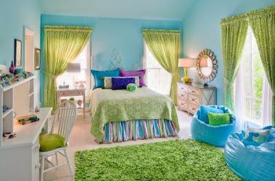 habitación colorida chica adolescente
