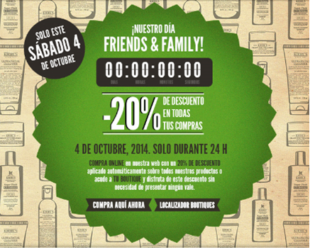 Kiehl's Friends & Family Day - 4 octubre 2014