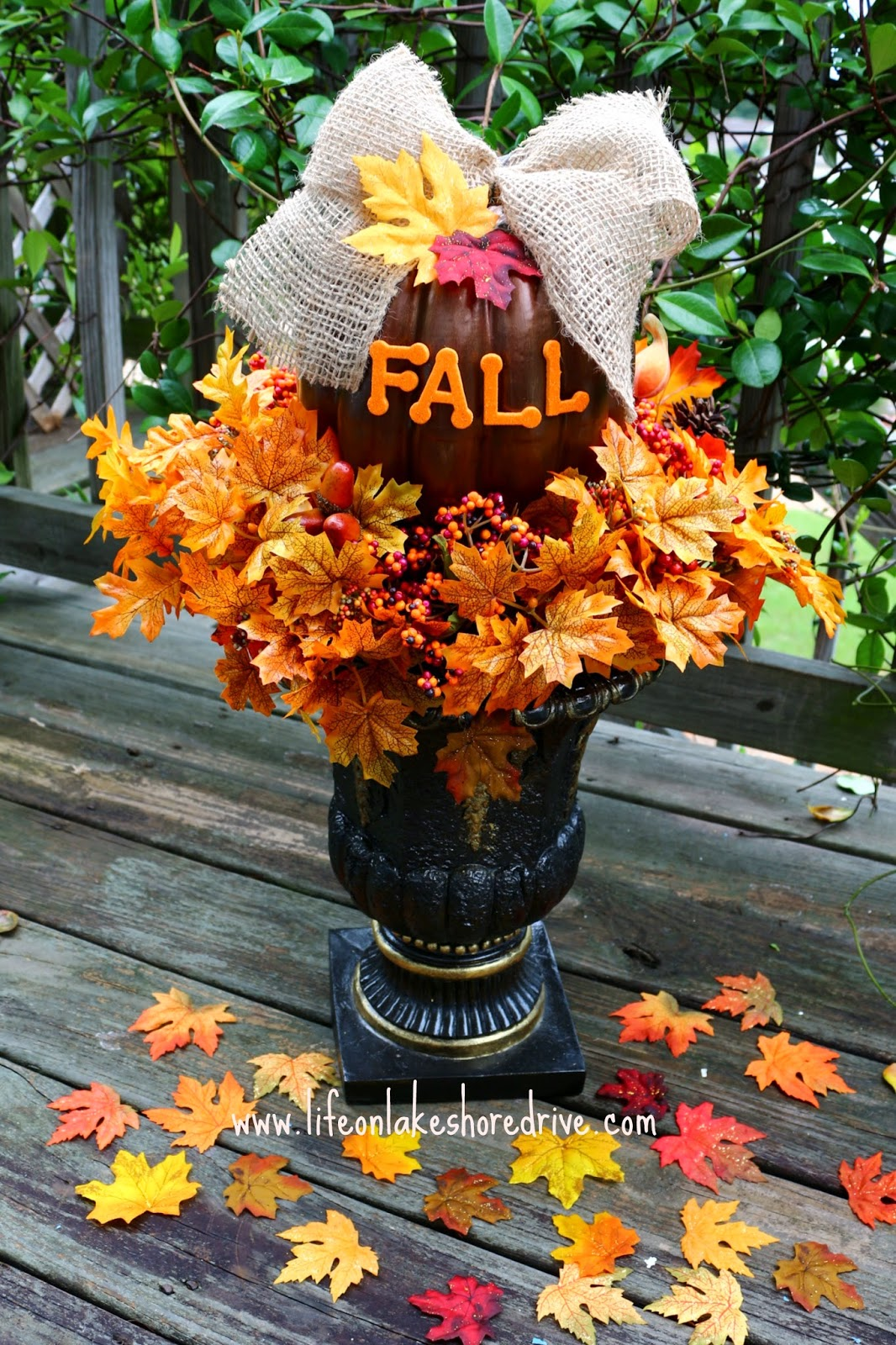 DIY Fall Decor Pumpkin Topiary Tutorial How To Make A Life On