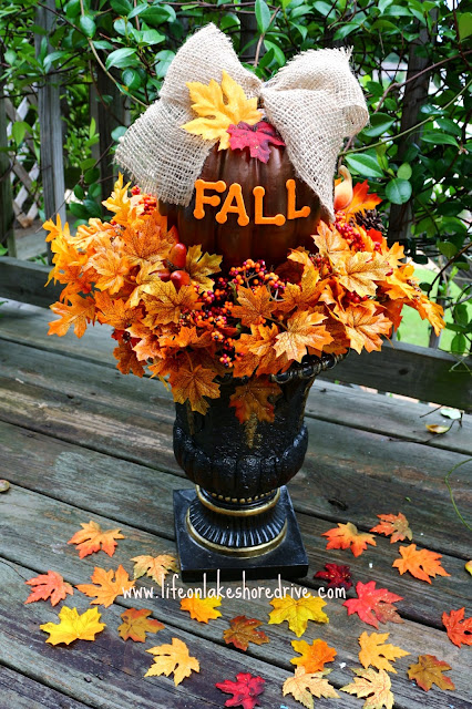 DIY Fall Decor Pumpkin Topiary Tutorial, How to make a fall pumpkin topiary    Life on Lakeshore Drive