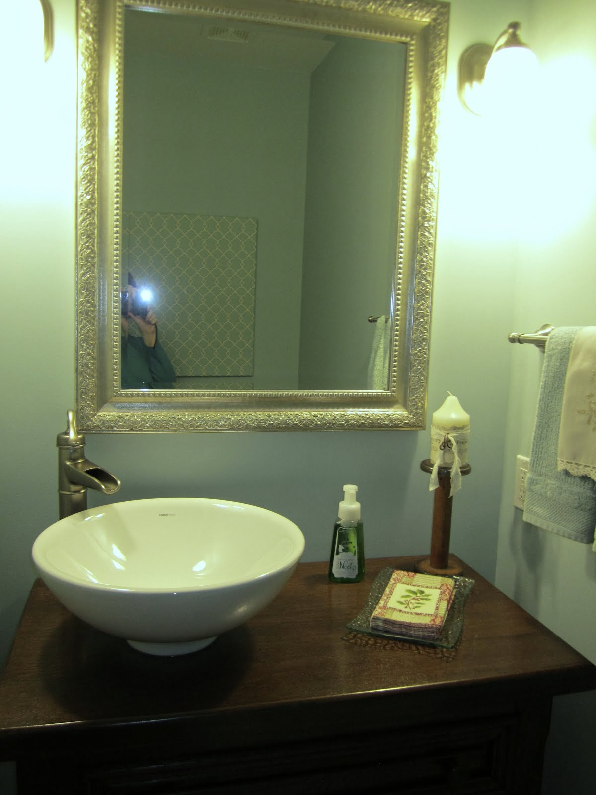 Playing with Cards: Powder Room Remodel