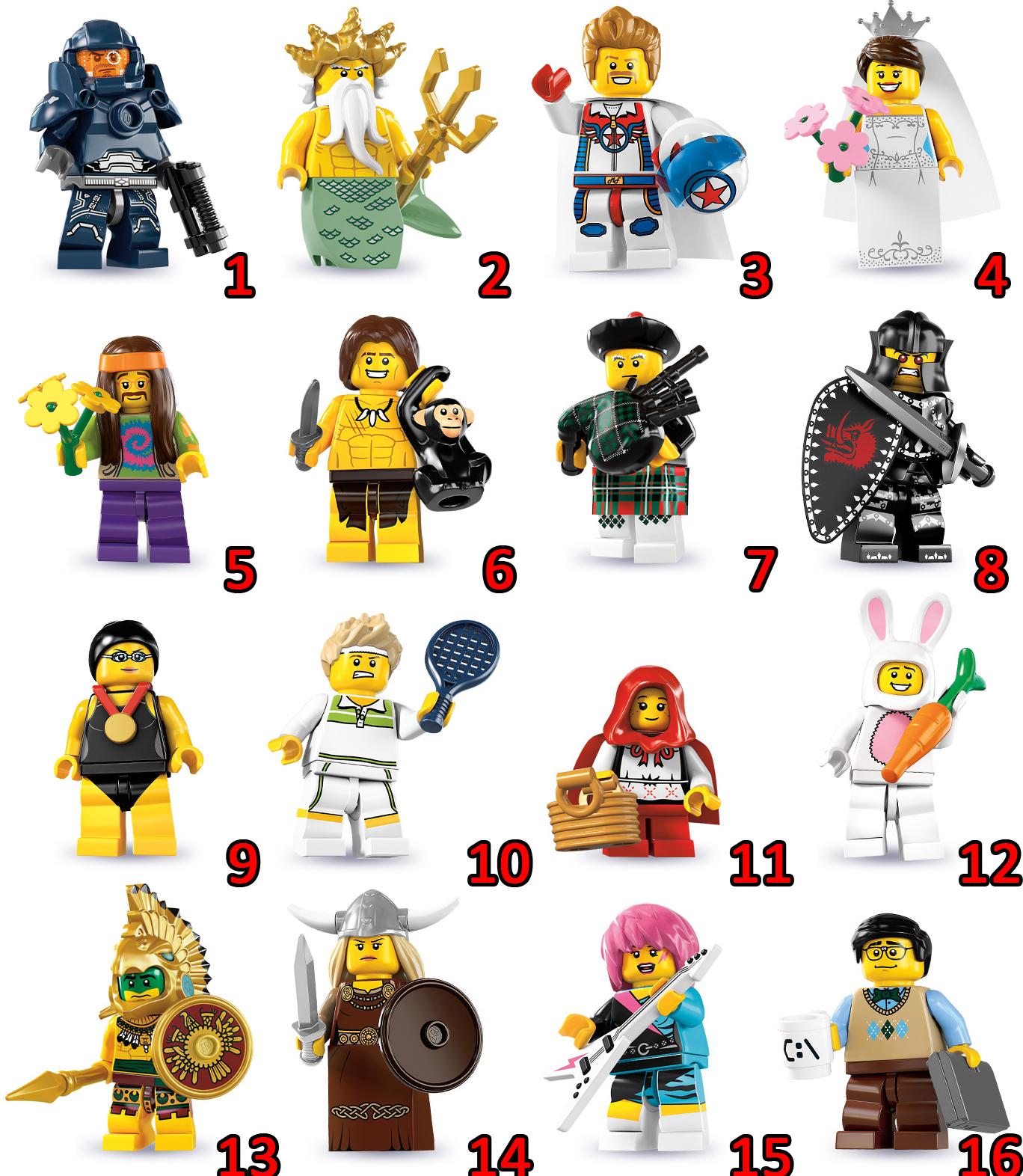 LEGO LEGO Minifigures, Series 7 Instructions 8831, Mini Figures