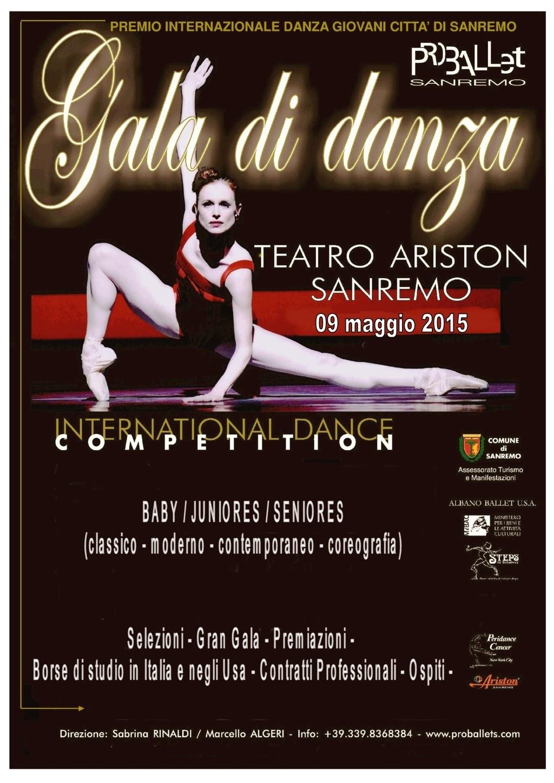 Premio internazionale danza giovani città di sanremo - proballet