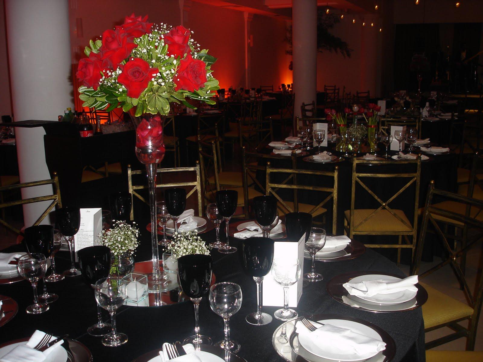 decoracao branco preto e vermelho