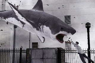 sharknado, ian ziering, chainsaw, sharks, tornado, great white