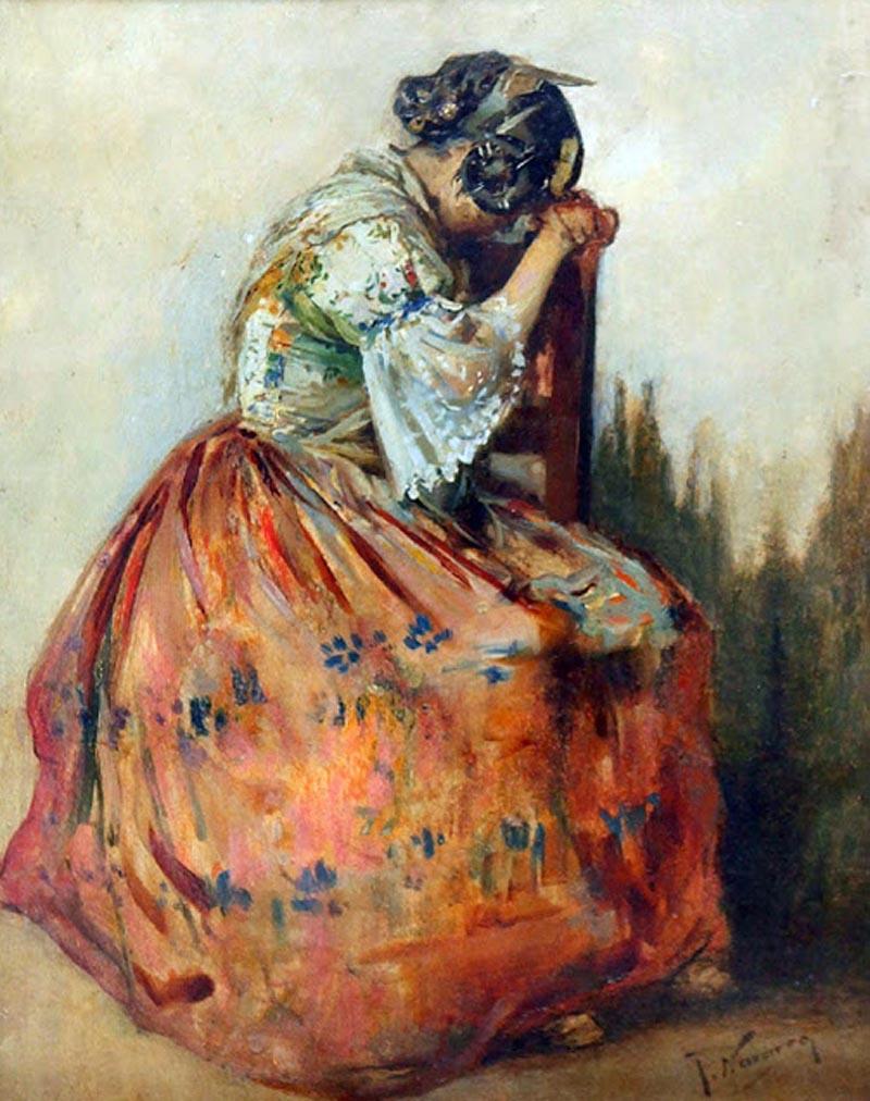 Valencianas pintadas jos navarro llorens - Pintor valenciano ...