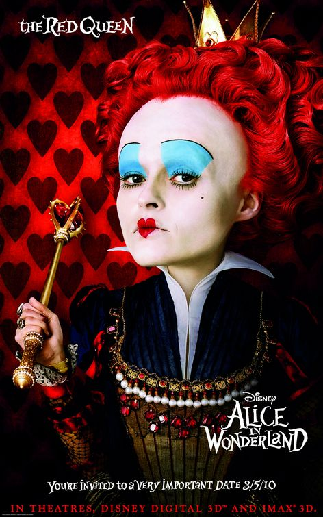 Alice Wonderland Red Queen poster