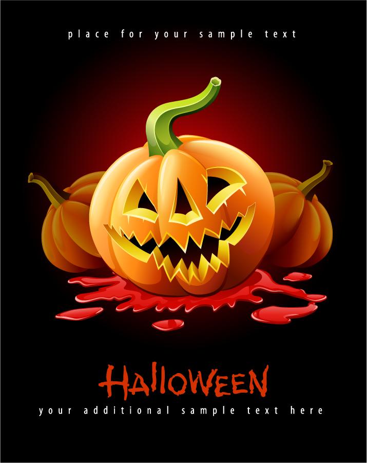 ハロウィンかぼちゃランタンの背景 halloween posters beautiful background イラスト素材