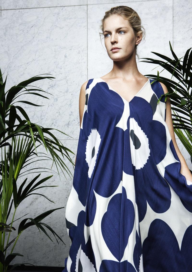 Lovely blue Unikko dress by Marimekko