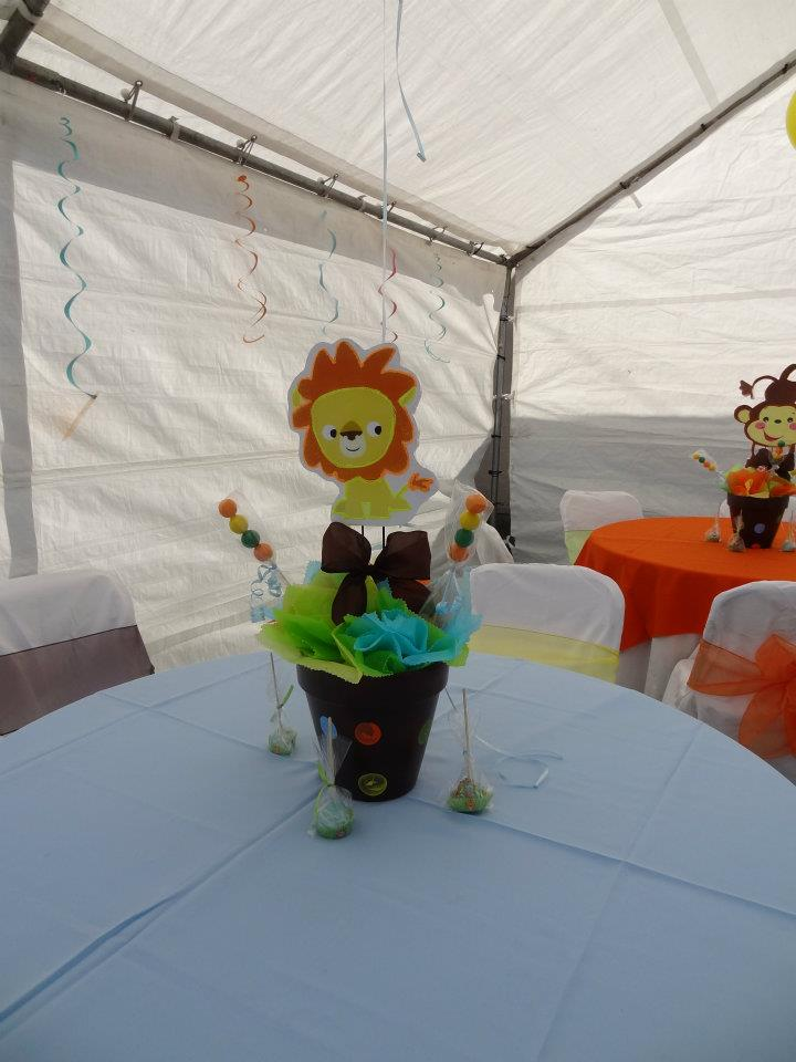 Jackie S Party Creations Jungle Themed Centerpieces And