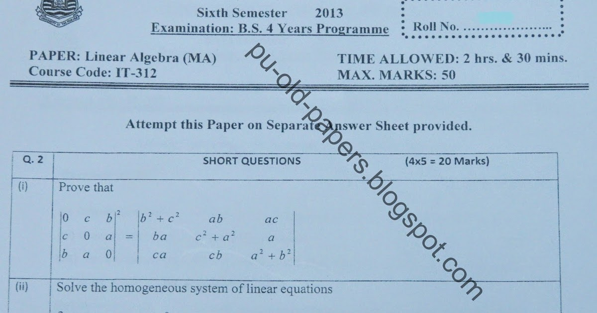 research papers in linear algebra I am currently writing a research paper as a student research in linear algebra most linear algebra research will be restricted to computer science and.