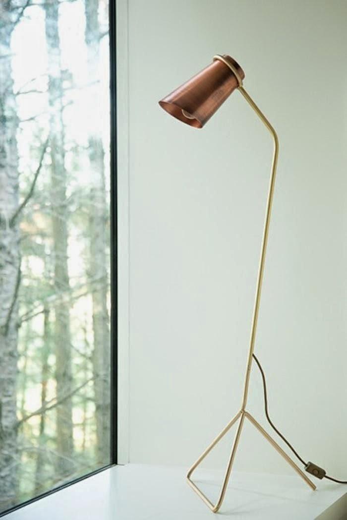 lampara de pie cobre