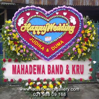 Bunga Papan Pernikahan Judika & Duma di TMII