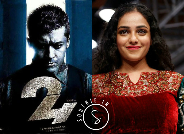Nitya Menen Joins Suriya for 24. Nitya Menen in 24, Nitya Menon and Samantha in 24