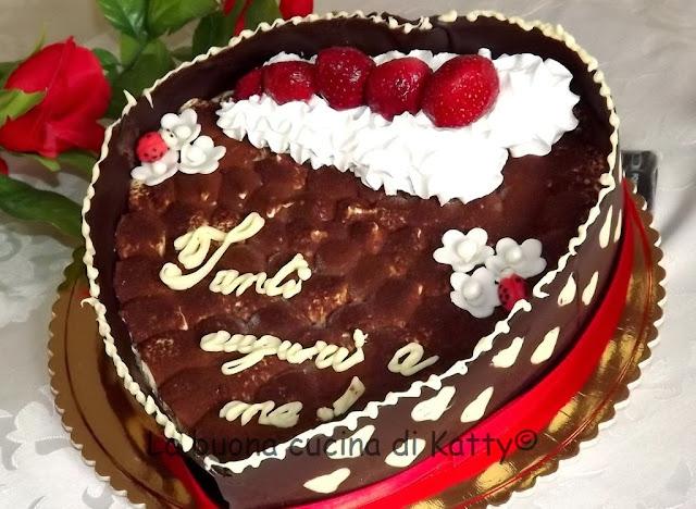 La buona cucina di katty torta tiramis a forma di cuore for Isola cucina a forma di torta