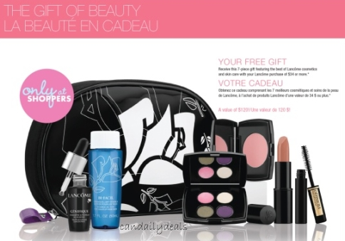Canadian Daily Deals: Shoppers Drug Mart: Lancome Free Gift With ...