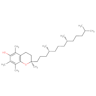 Struktur Kimia Vitamin E / Tokoferol / Vit E