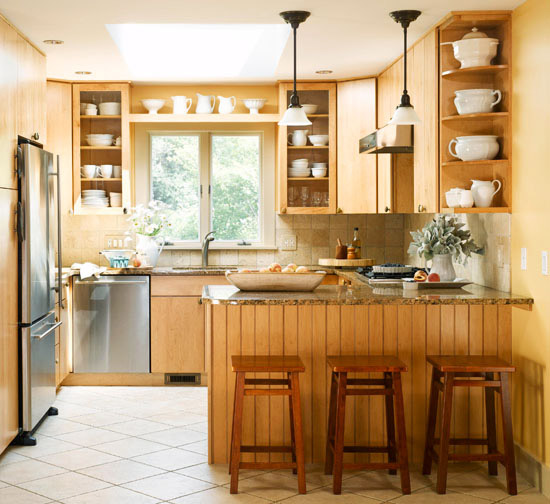 Modern furniture small kitchen decorating design ideas 2011 for Kitchen design layouts for small kitchens