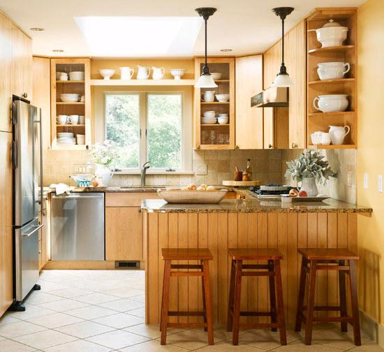 The Glamorous Kitchen backsplash ideas with light granite Image