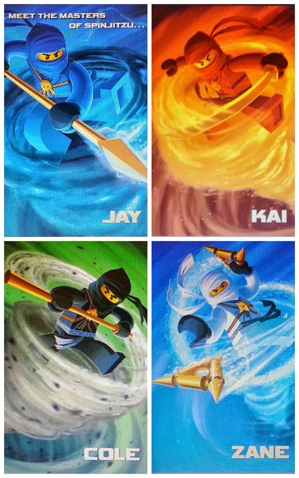 LEGO Ninjago Graphic Novels character artwork