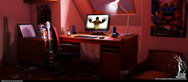 Desktop escritorio 3d Jesse gutierrez art render peru,artista peruano 3d diseño 3d