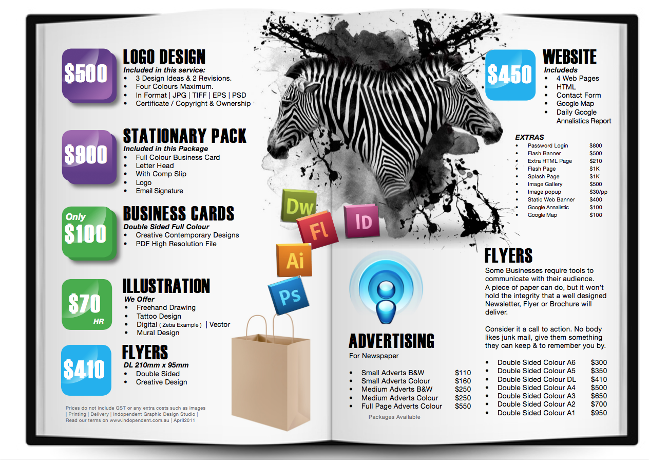 graphic design services price list