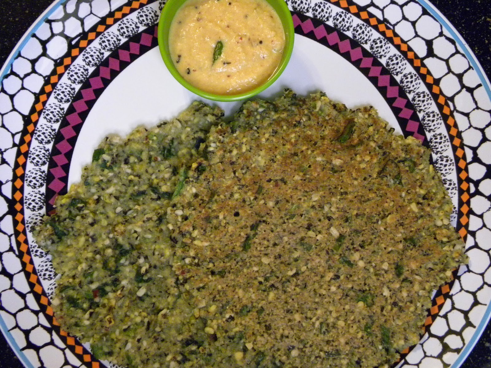lentil and spinach crepes for breakfast or a quick snakc anytime