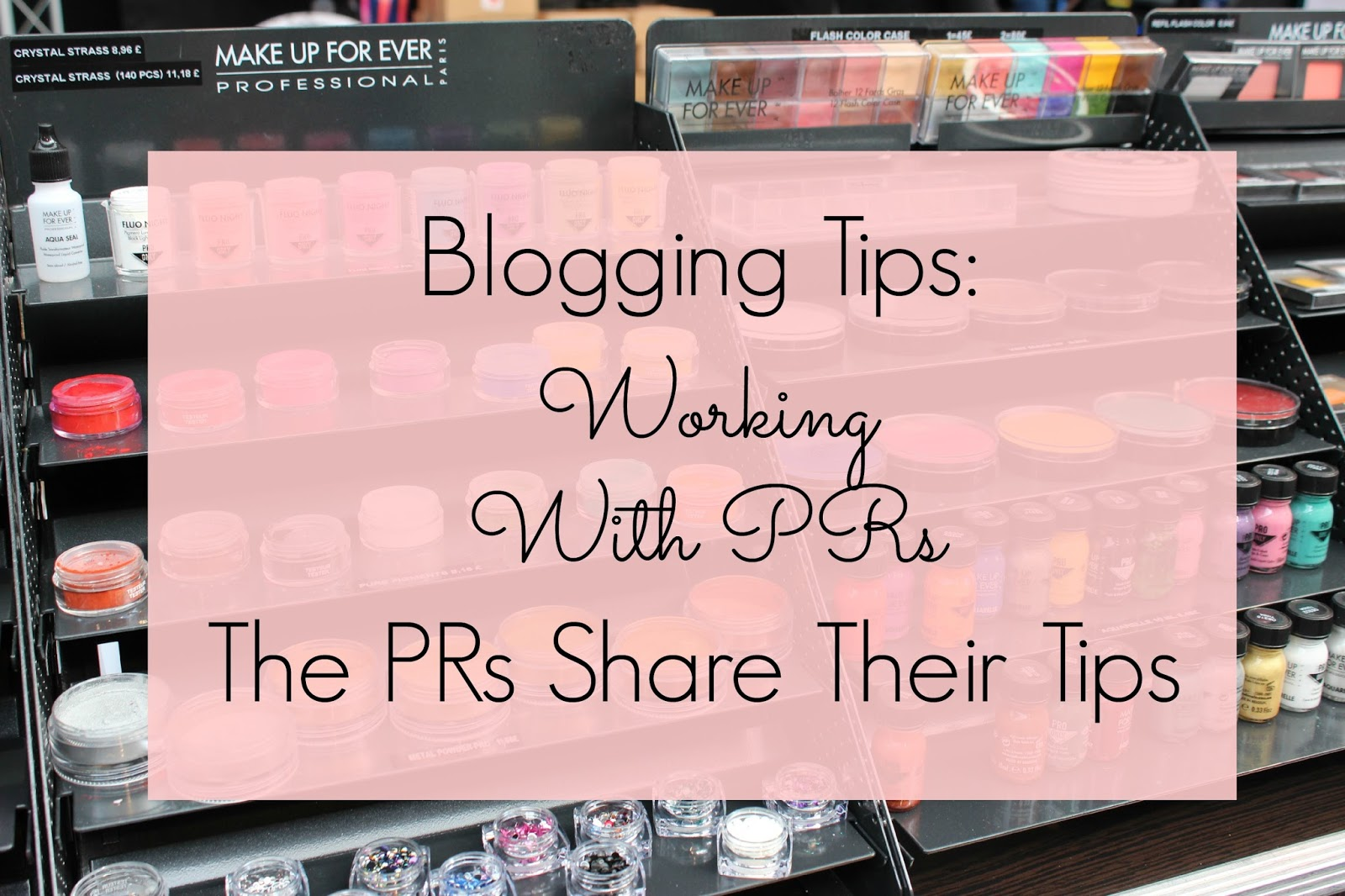 Blogging tips - working with PRS