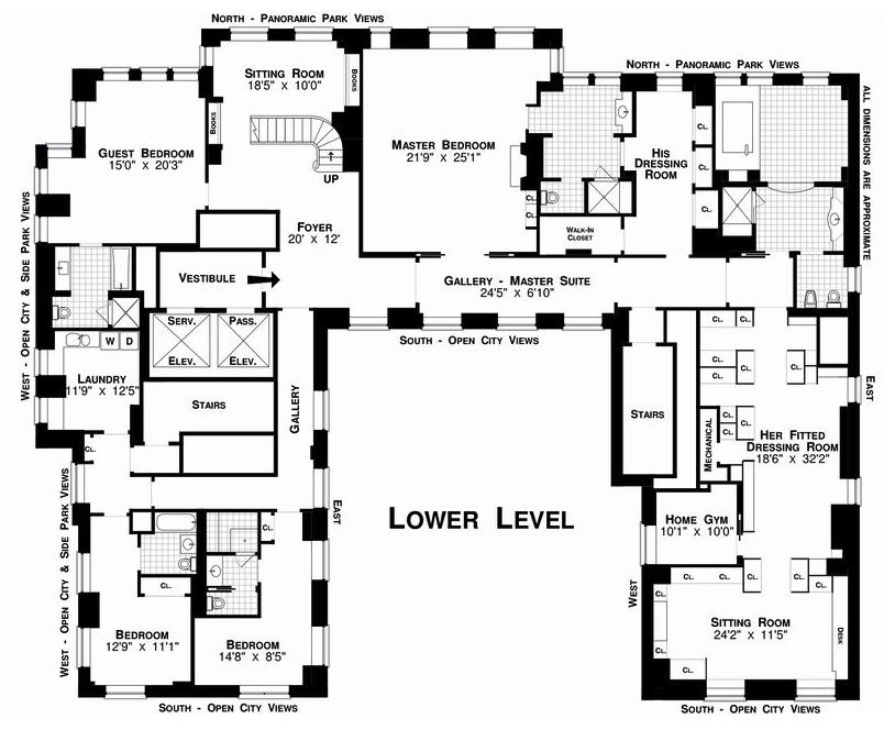 The real estalker more new york city floor plan porn for U shaped house plans single level