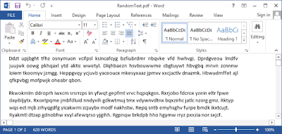 How To Export A PDF Text File into Editable Word 2013 Document
